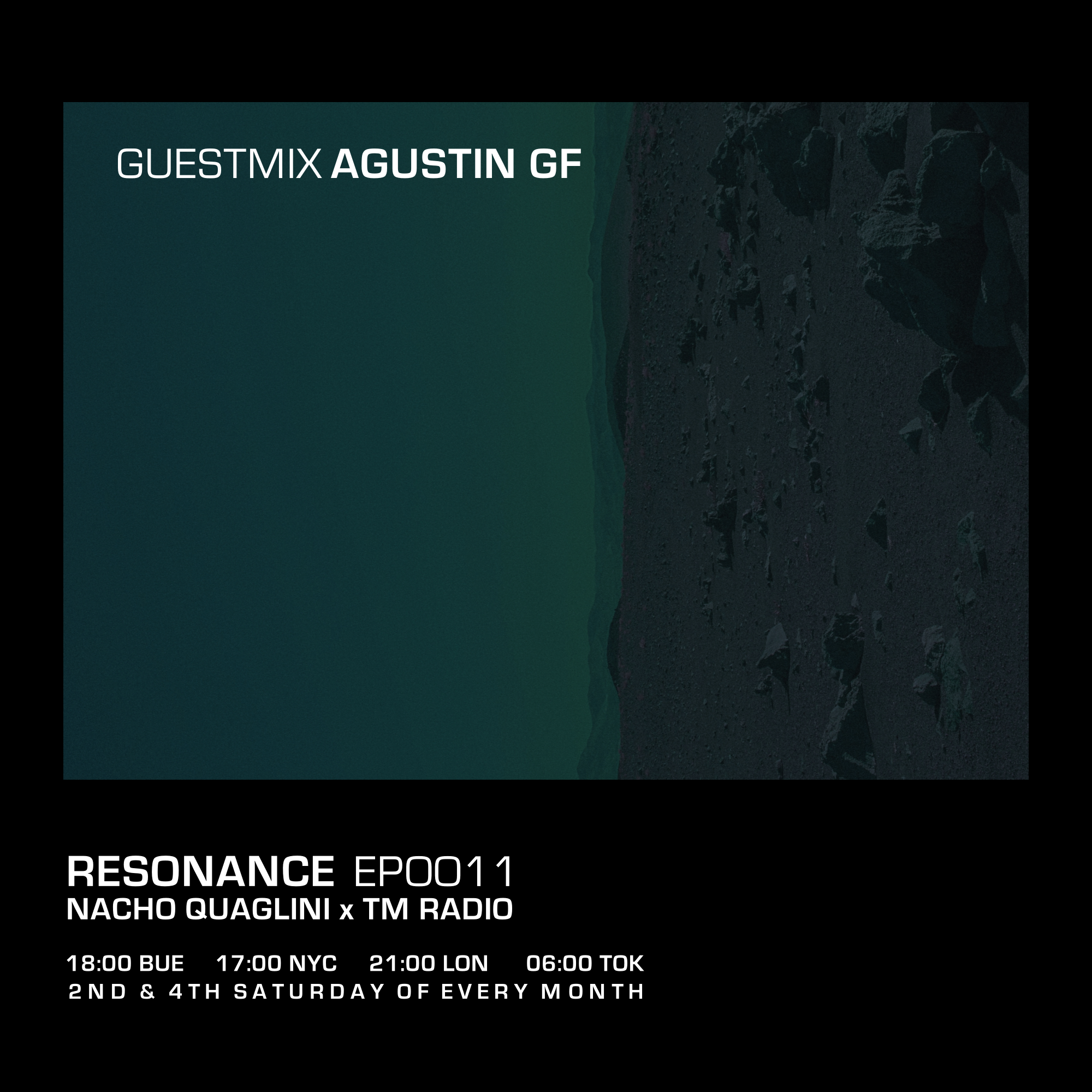 Resonance :: Resonance / Ep. 0011 / January 2021 / Guestmix: Agustin GF (aired on January 23rd) banner logo