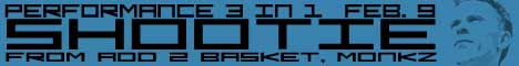 Performance 3 in 1 :: Exclusive guestmix Shootie from Add2Basket, Monkz (aired on February 9th, 2007) banner logo
