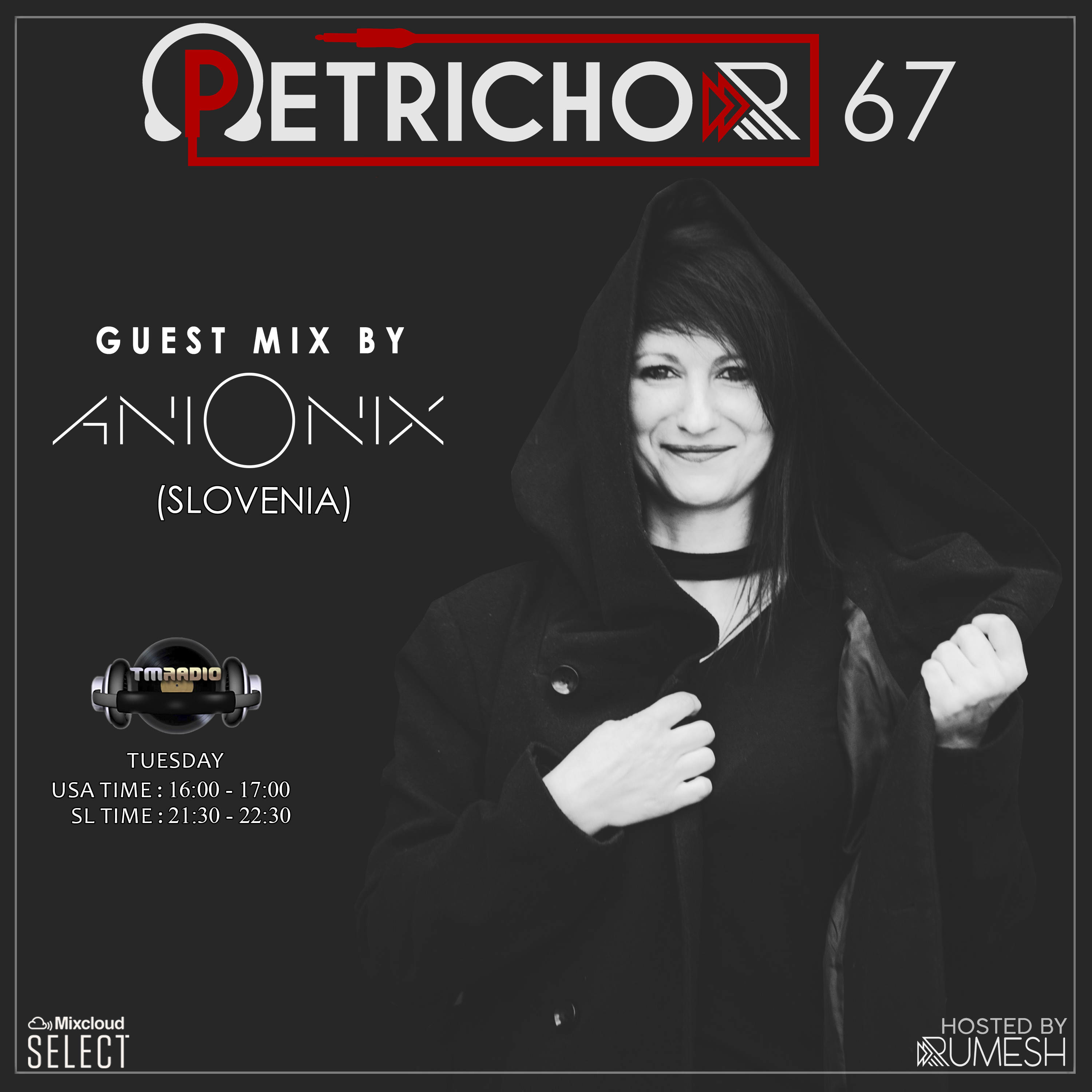 Petrichor :: Petrichor 67 guest mix by Ani Onix -(Slovenia) (aired on February 18th) banner logo