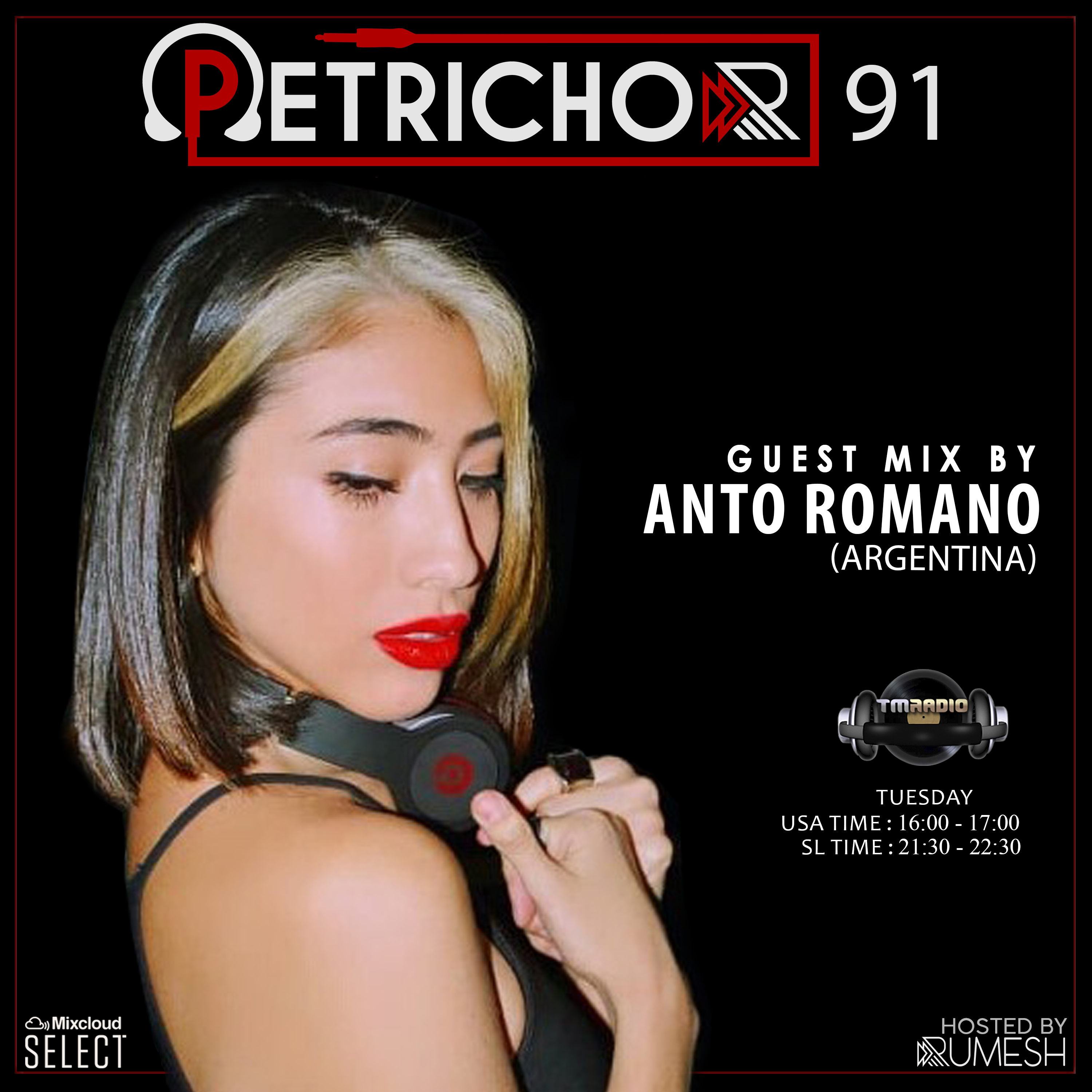 Petrichor :: Petrichor 91 guest mix by Anto Romano -(Argentina) (aired on October 6th, 2020) banner logo