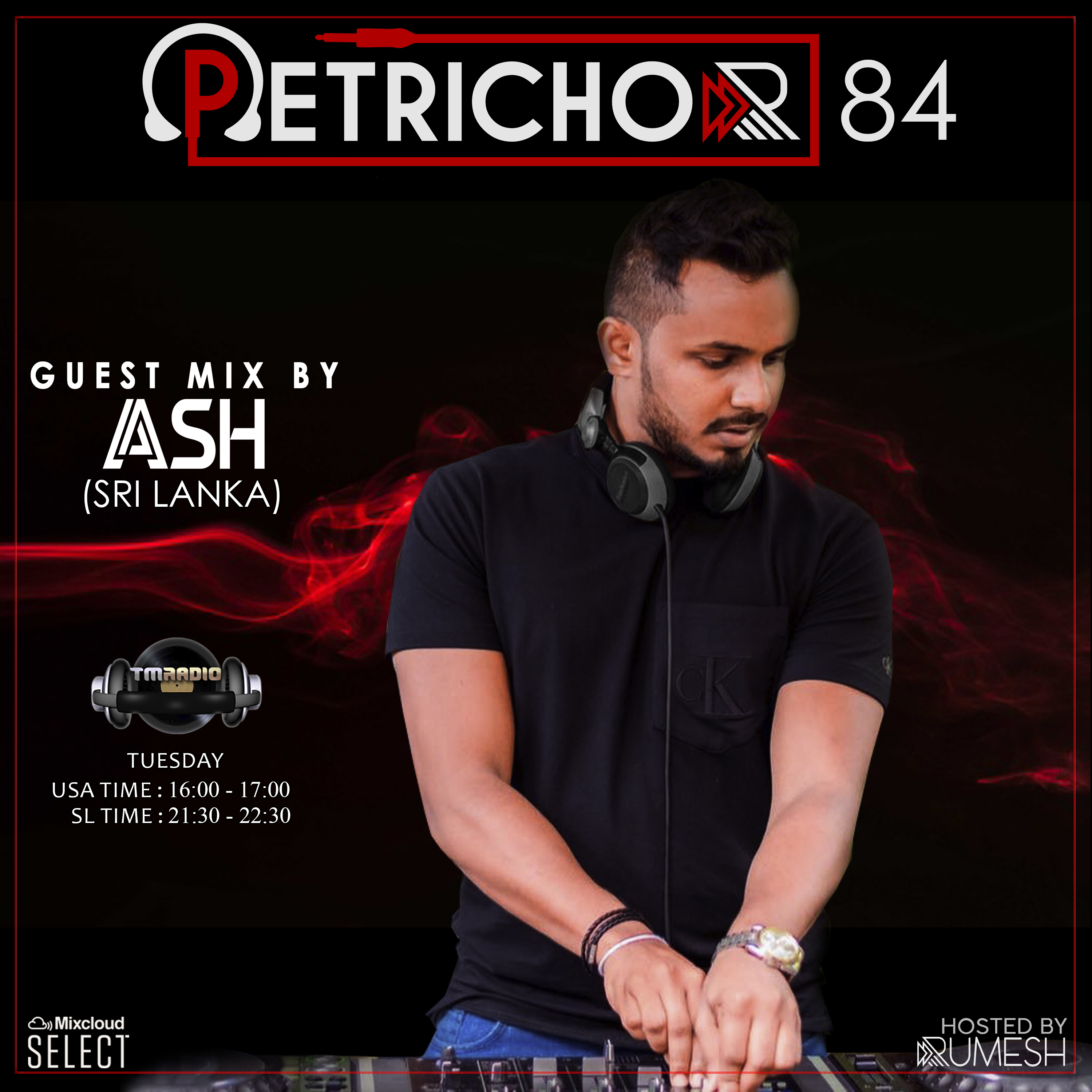 Petrichor :: Petrichor 84 guest mix by ASH - (Sri Lanka) (aired on June 16th) banner logo