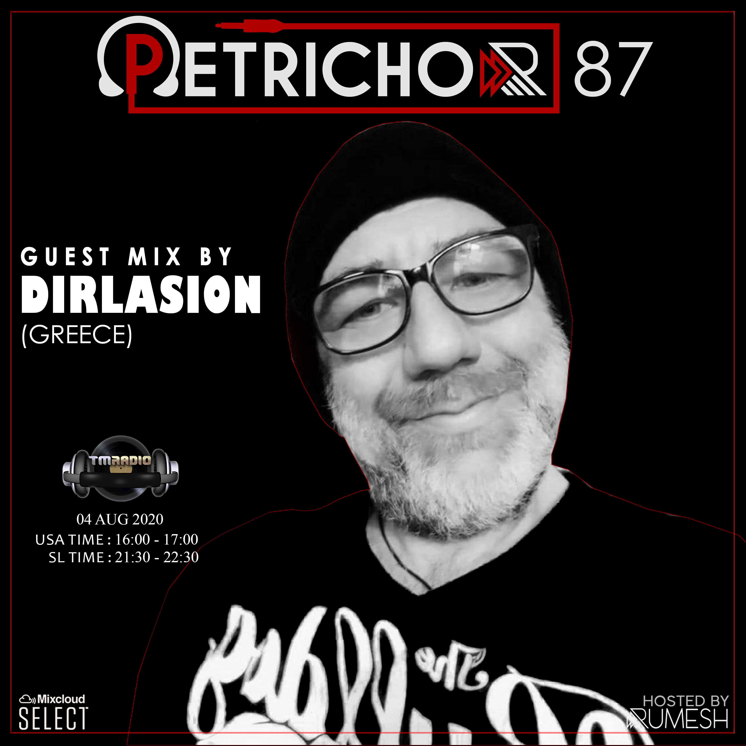 Petrichor :: Petrichor 87 guest mix by Dirlasion (Greece) (aired on August 4th, 2020) banner logo