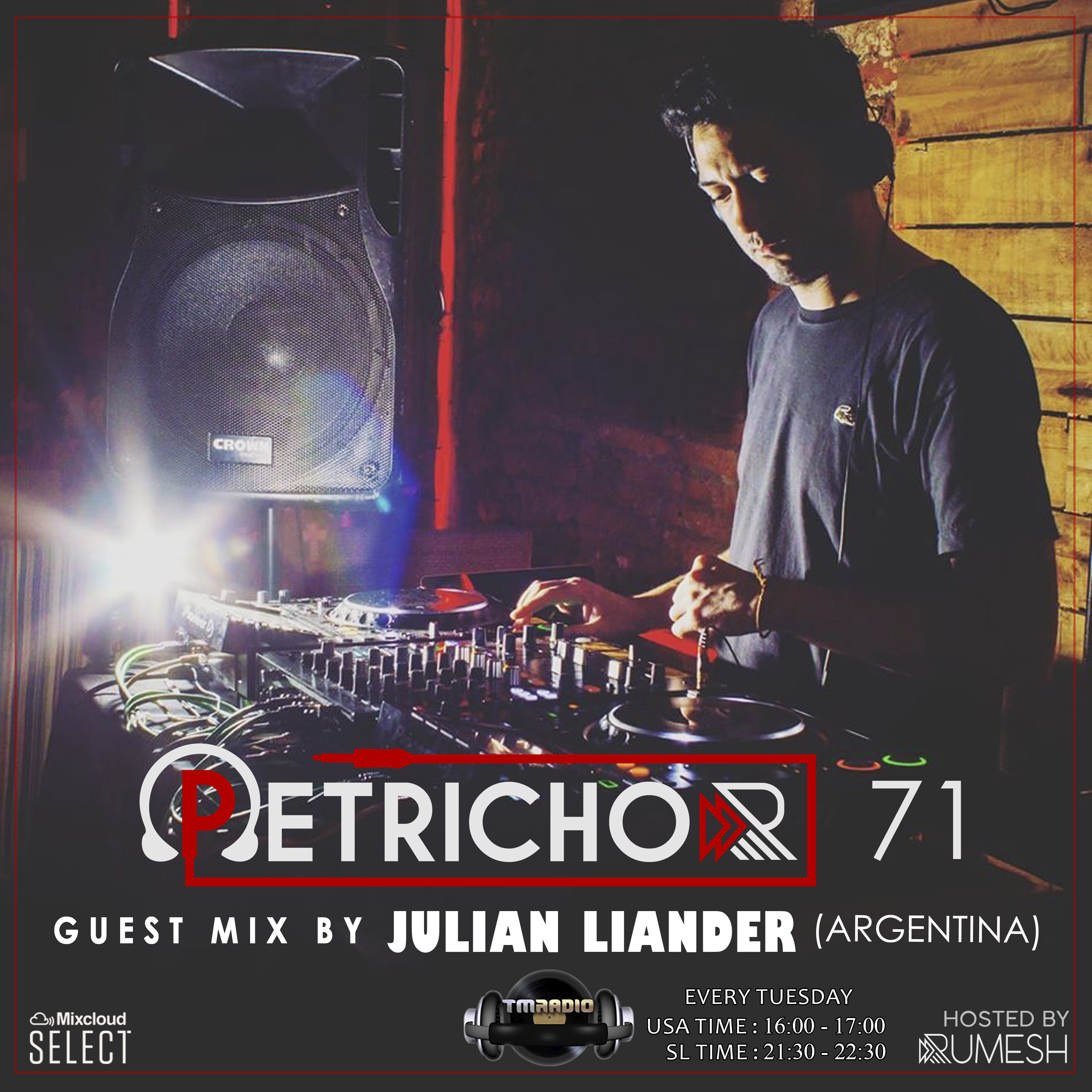 Petrichor :: Petrichor 71 Guest Mix by Julian Liander (Argentina) (aired on March 17th, 2020) banner logo