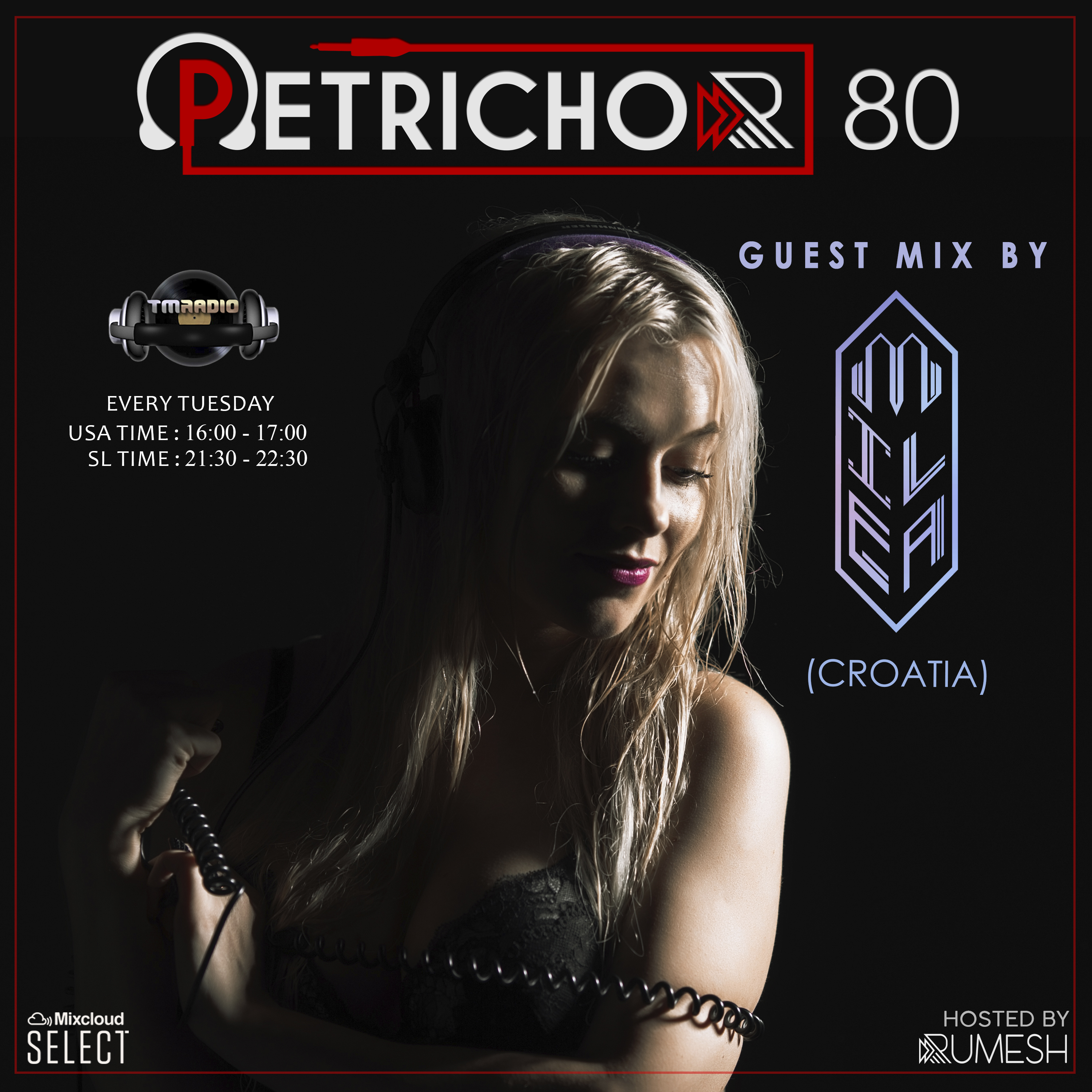 Petrichor :: Petrichor 80 guest mix by Milea (Croatia) (aired on May 19th, 2020) banner logo