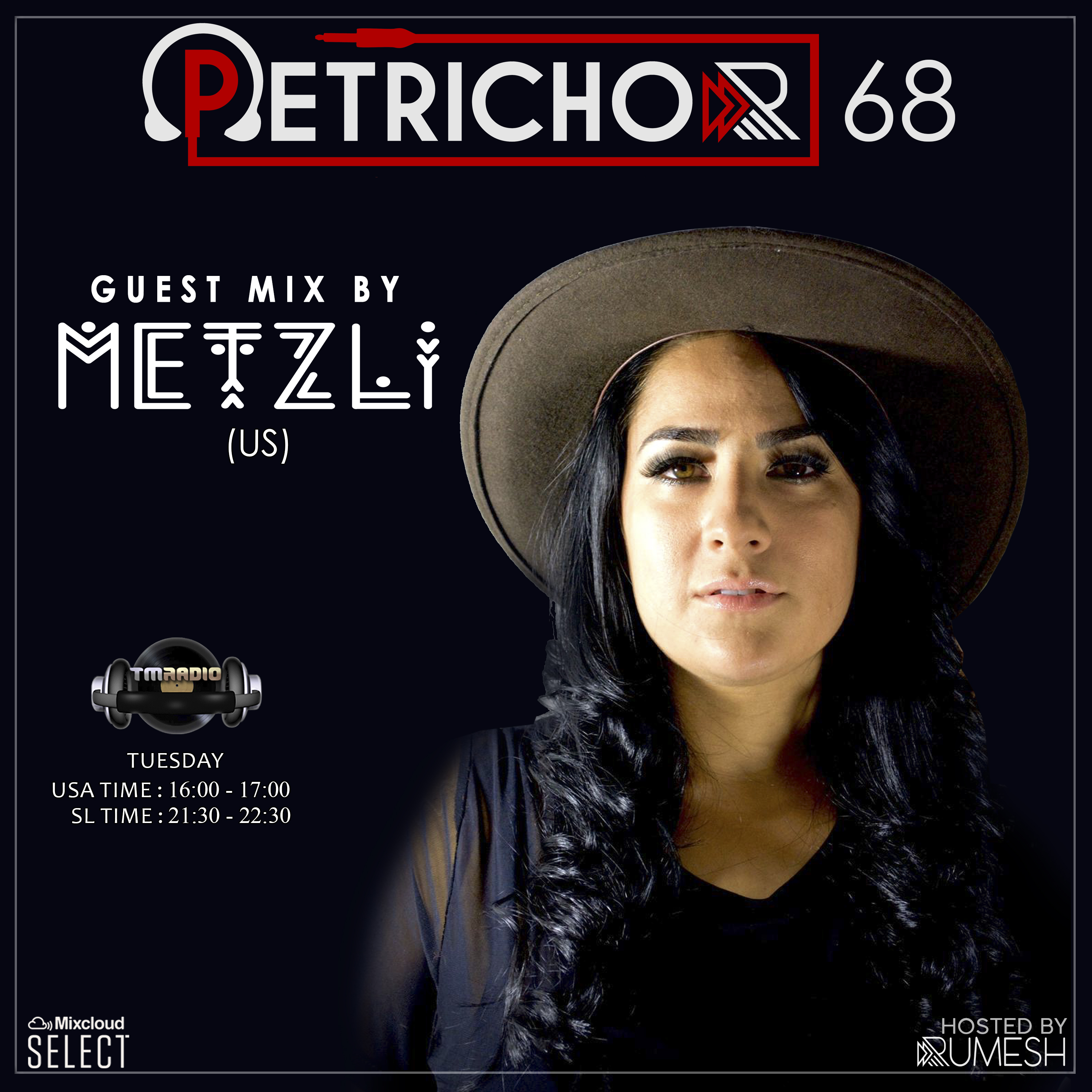 Petrichor :: Petrichor 68 guest mix by Metzli (US) (aired on February 25th) banner logo