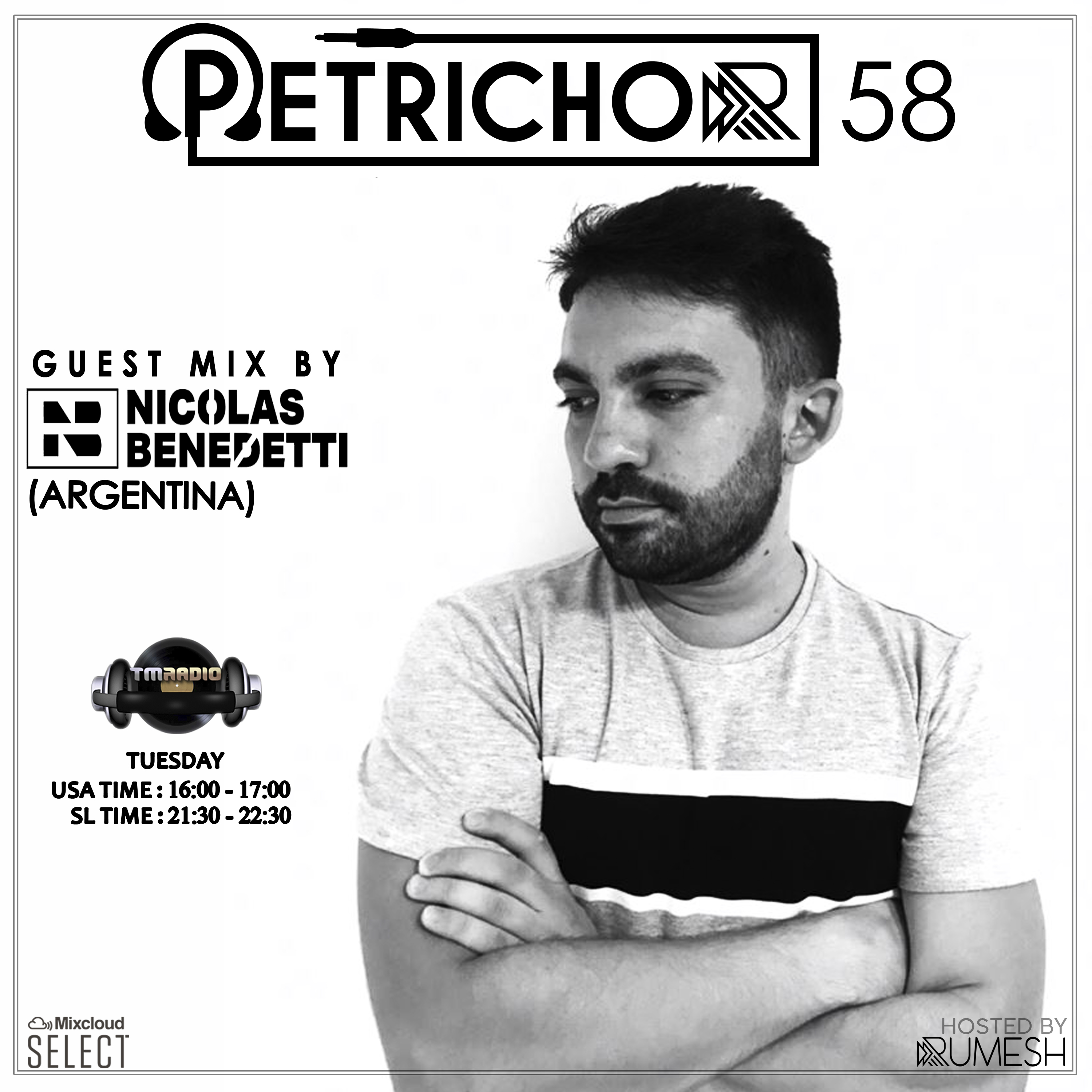 Petrichor 58 guest mix by Nicolas Benedetti (Argentina) (from December 17th, 2019)