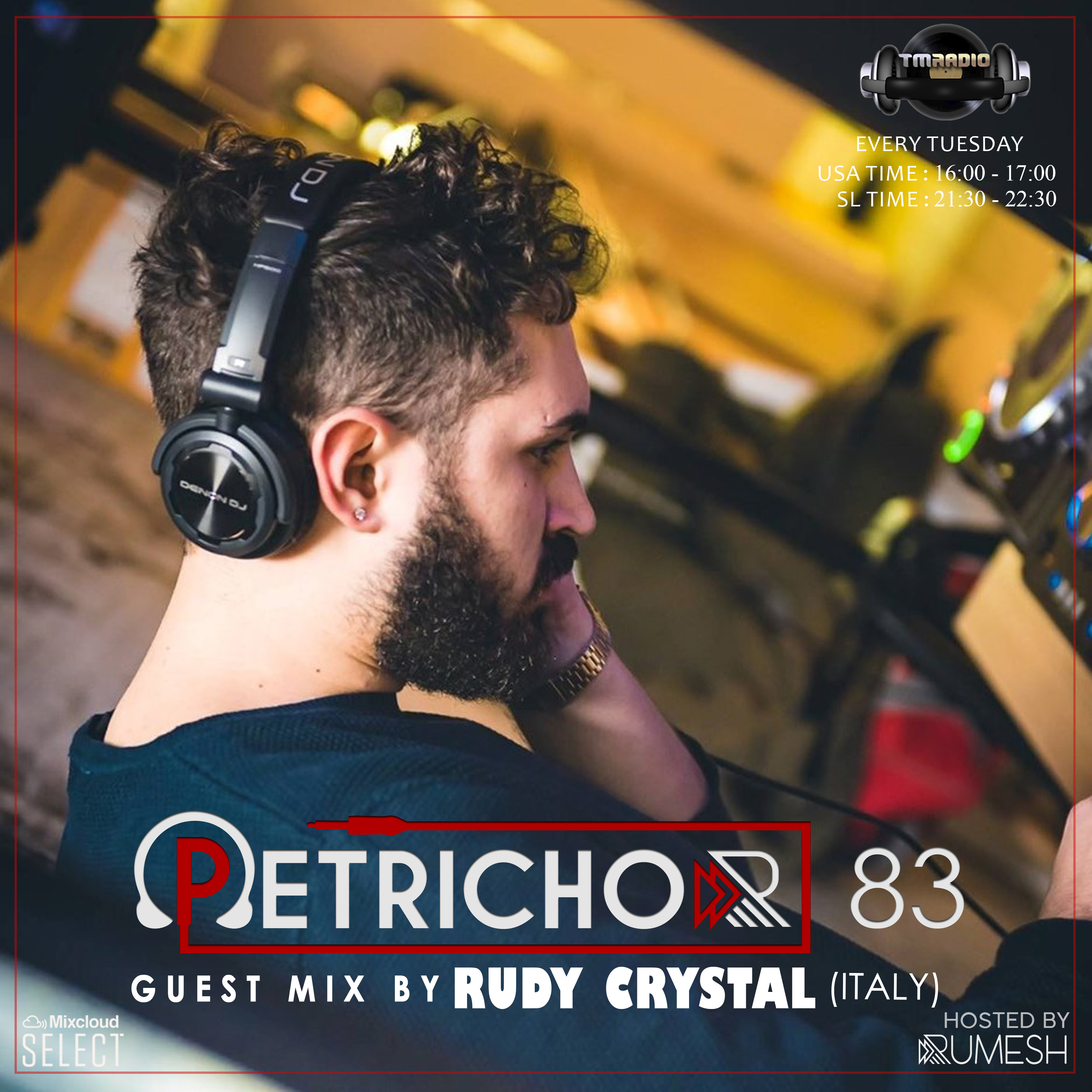 Petrichor :: Petrichor 83 guest mix by Rudy Crystal (Italy) (aired on June 9th, 2020) banner logo