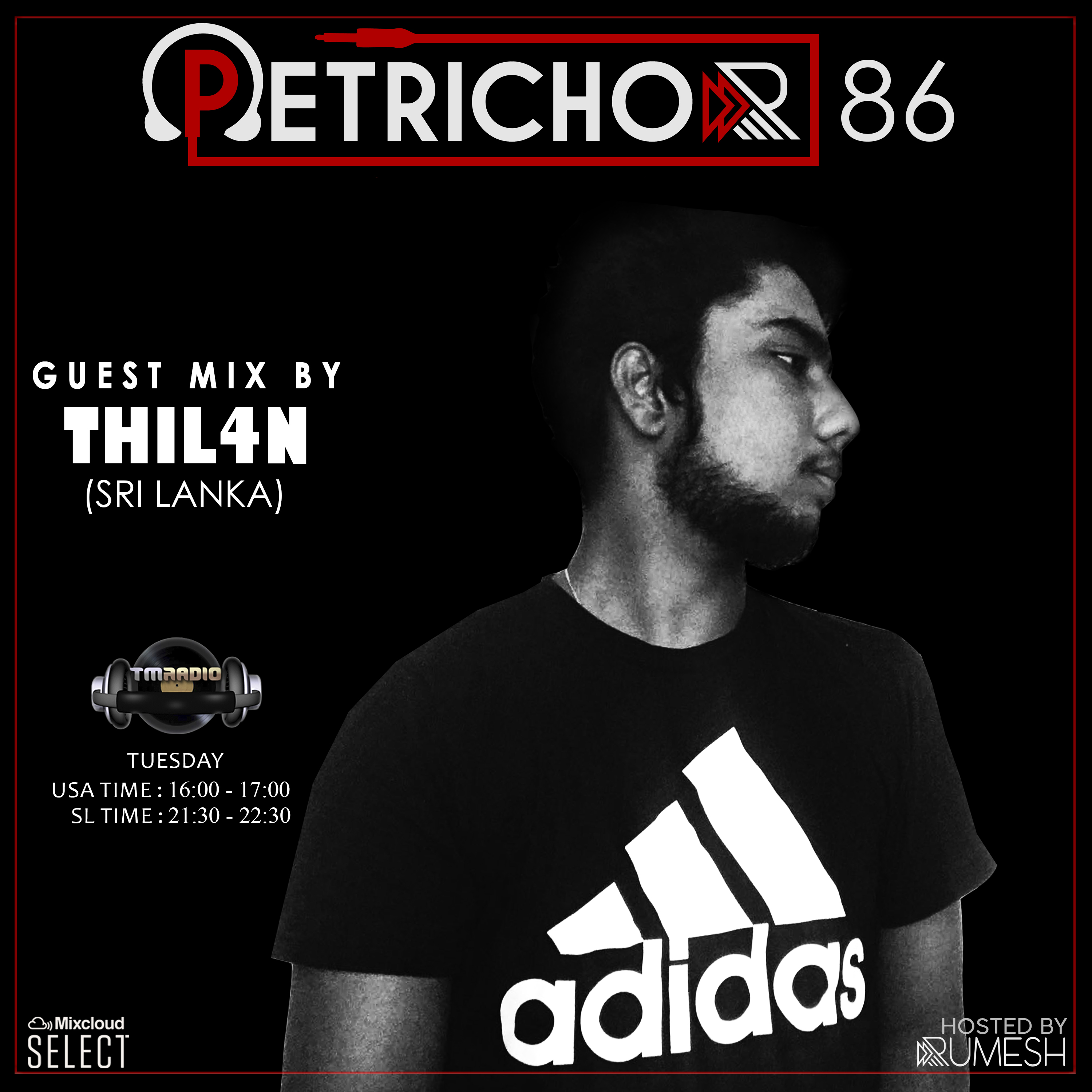 Petrichor :: Petrichor 86 guest mix by THIL4N (Sri Lanka) (aired on June 30th, 2020) banner logo