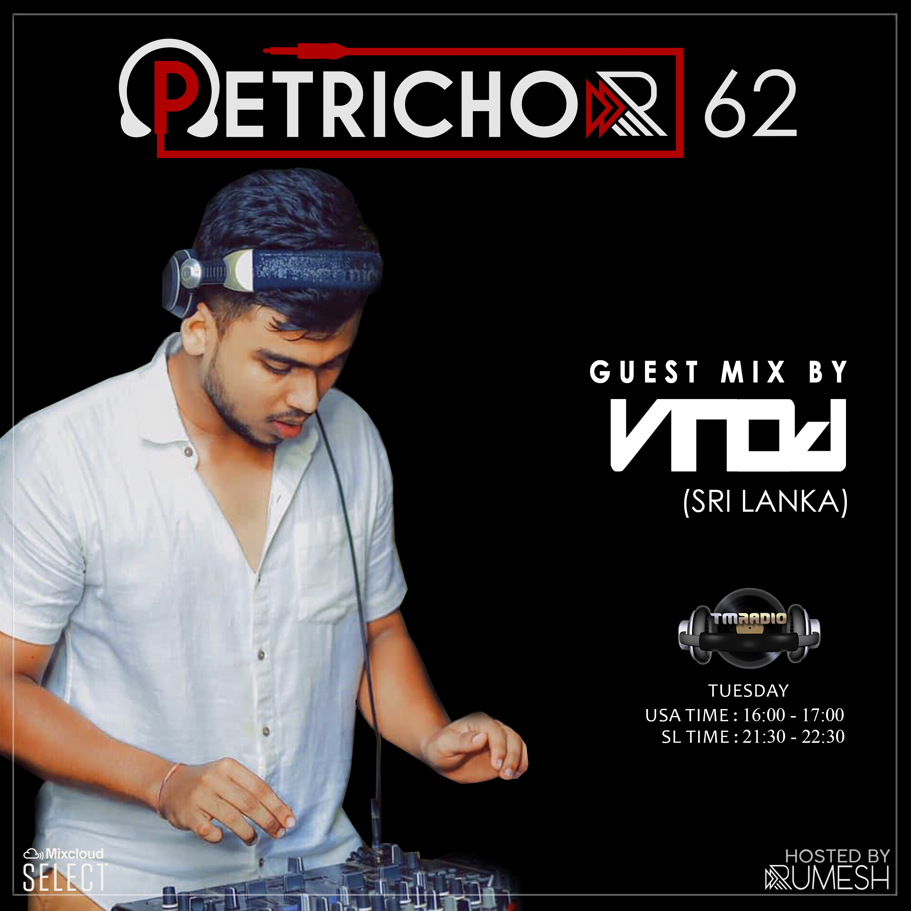 Petrichor :: Petrichor 62 guest mix by Vinod (Sri Lanka) (aired on January 14th, 2020) banner logo