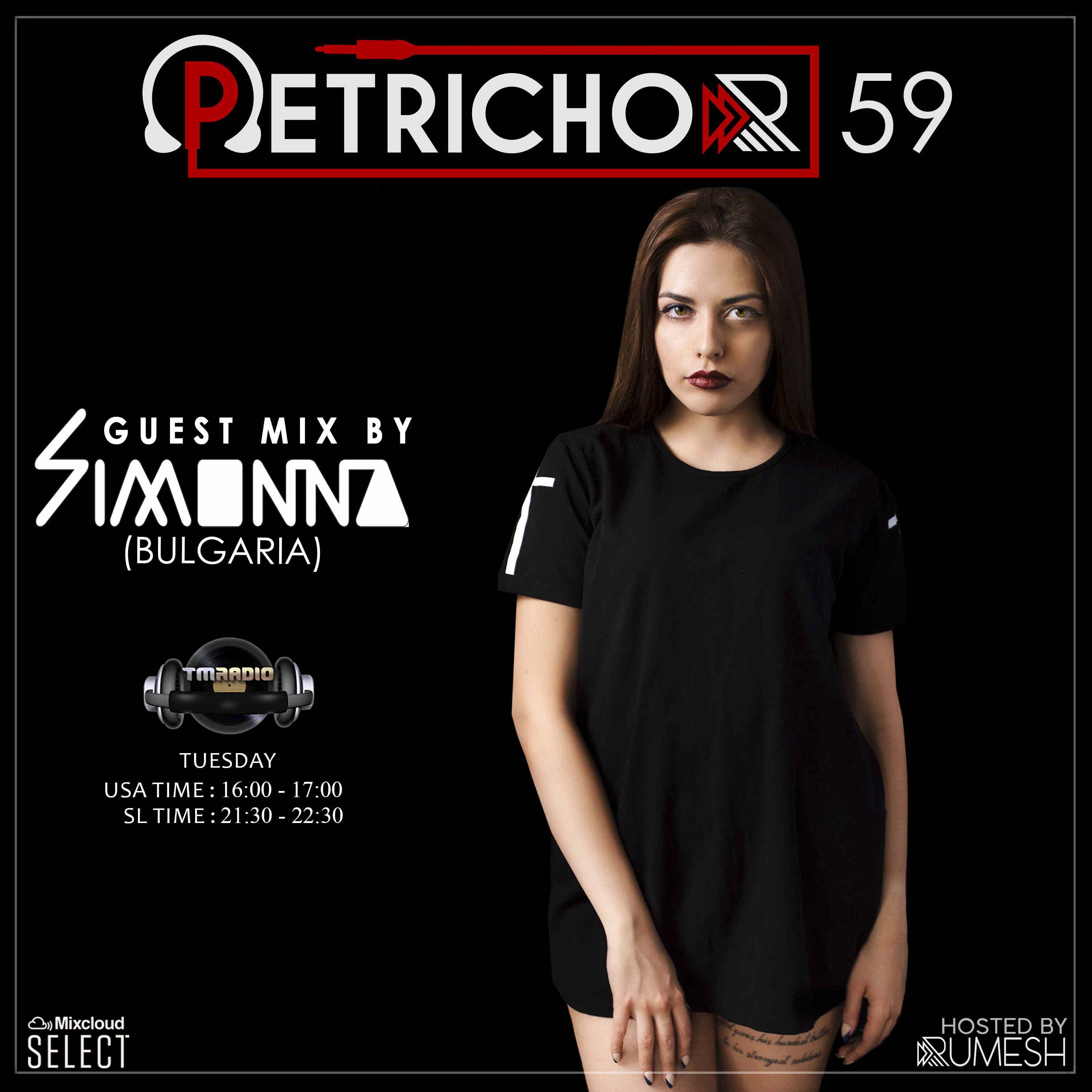 Petrichor :: Petrichor 59 guest mix by Simonna (Bulgaria) (aired on December 24th, 2019) banner logo